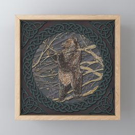 Celtic Bear Framed Mini Art Print