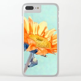 Sunflower Daze Clear iPhone Case