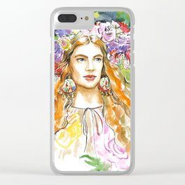 A summer girl #2 Clear iPhone Case