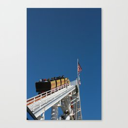 Santa Monica Pier, coaster Canvas Print