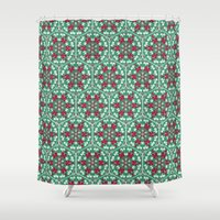 honeycomb Shower Curtains featuring Honeycomb by Paula Belle Flores