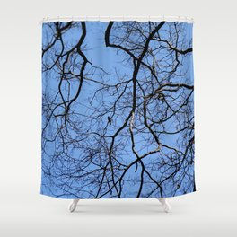 Bird in the Tree Shower Curtain