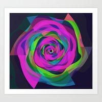 arya Art Prints featuring Spiral Colourful Design by Hinal Arya