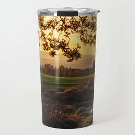 Meadow and Pond Landscape Travel Mug