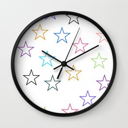 Stars In Colors Wall Clock