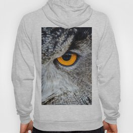 NIGHT OWL - EYE - CLOSE UP PHOTOGRAPHY - ANIMALS - NATURE Hoody
