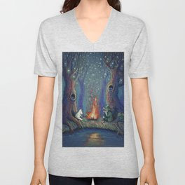 Moomin's night Unisex V-Neck