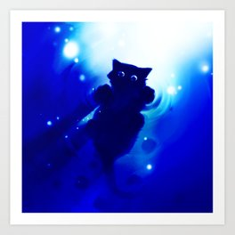 cute cat Art Print