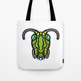 Grasshopper Head Mascot Tote Bag