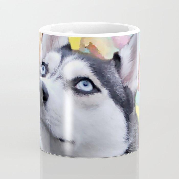 Dreaming Husky Coffee Mug