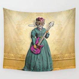 Tessy Tigress Shreds a Solo . . . Grrrrrr! Wall Tapestry