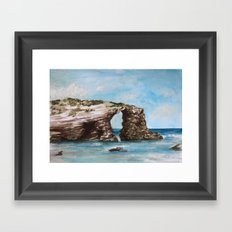 Playa de las catedrales Framed Art Print