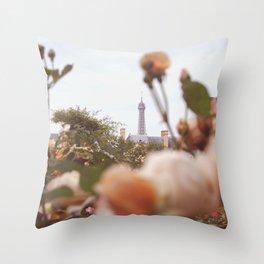 Flowers grow in Paris Throw Pillow