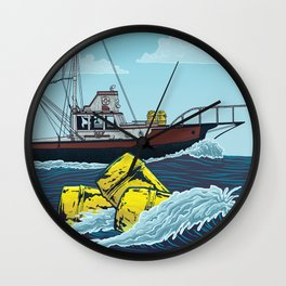 Jaws: Orca Illustration Wall Clock