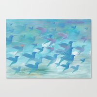 wings Canvas Prints featuring Wings by sandesign