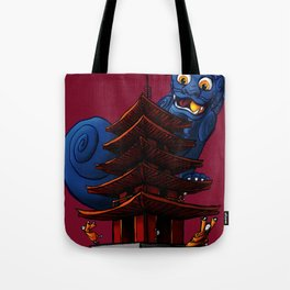a Dog a Panic in a Pagoda Tote Bag