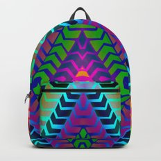 Psychedelic Chevron Backpack