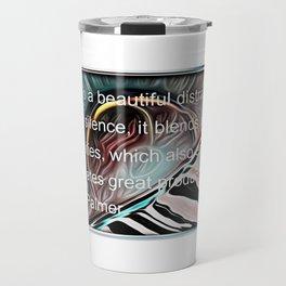 """Music Is Beautiful"" w/ quote Travel Mug"