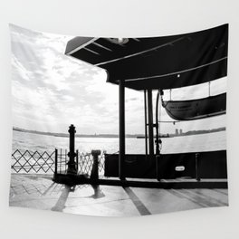 Staten Island Ferry (Silhouette) Wall Tapestry
