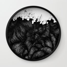 Sometimes the world is too big and I live underground 2 Wall Clock