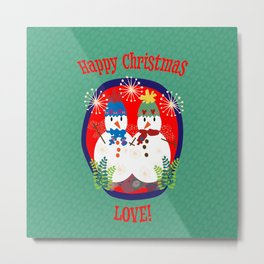Happy Christmas LOVE! Metal Print