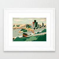 steelers Framed Art Prints featuring Pittsburgh, Pennsylvania by Sam Brewster