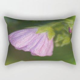 Malva With Morning Dew Rectangular Pillow