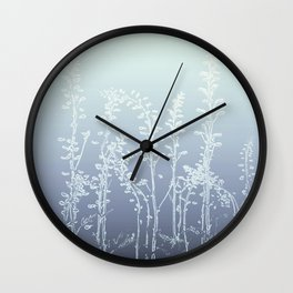 WILDFLOWERS BLUE AND PURPLE Wall Clock