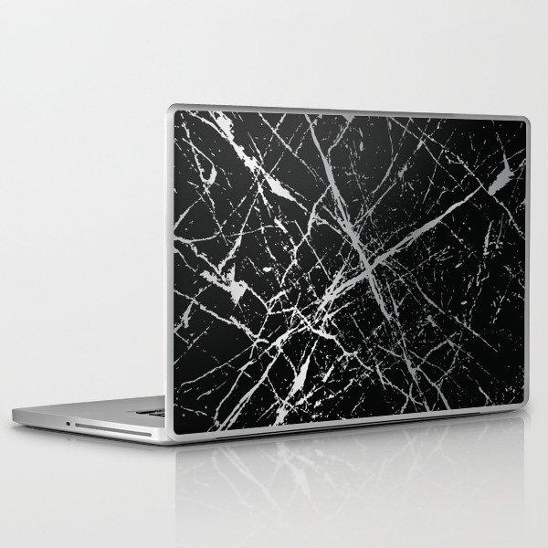 Silver Splatter 090 Laptop & iPad Skin