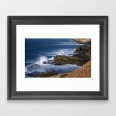 Waves On The California Coast Framed Art Print