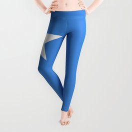 Somalian national flag - Authentic color and scale (high quality file) Leggings