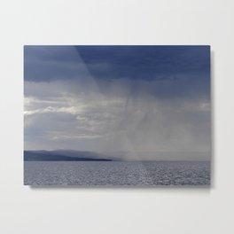 Showers on the lake Metal Print