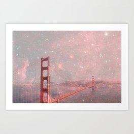 Stardust Covering San Francisco Art Print