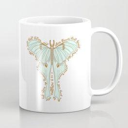 Matthew 6:20 - Bible verse moth illustration Coffee Mug