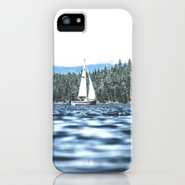 Calm Lake Sailboat iPhone Case