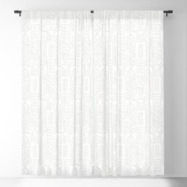 Swedish Folk Art - Subtle Blackout Curtain