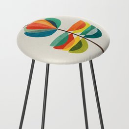 Whimsical Bloom Counter Stool