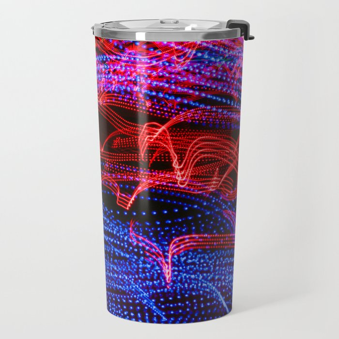 Light Abstract Curves Long Exposure Travel Mug