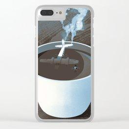 Crash Landing Clear iPhone Case