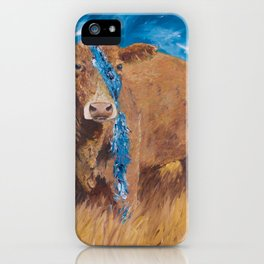 Sky Blue Cow iPhone Case