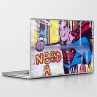 supergirl Laptop & iPad Skins featuring I Need a Supergirl by Ibbanez