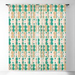 Uende Cactus - Geometric and bold retro shapes Blackout Curtain