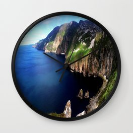 Deep Blue Sea & Mountains Wall Clock
