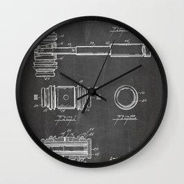 Judge Gavel Patent - Lawyer Art - Black Chalkboard Wall Clock