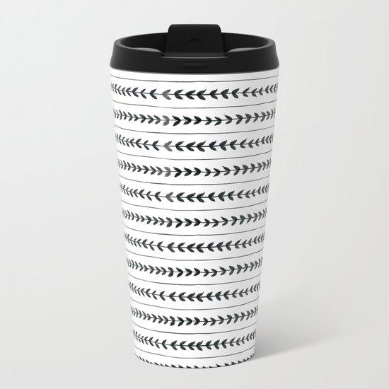Laurel stripe - back and forth Metal Travel Mug