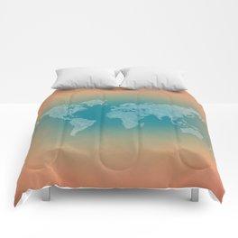 It's a Big ol' World - Pointilist Artwork Comforters