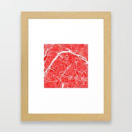 PARIS MAP ART Framed Art Print