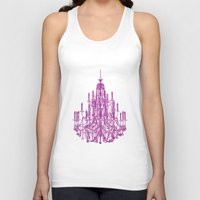 chandelier Tank Tops featuring Chic Chandelier by Zen and Chic