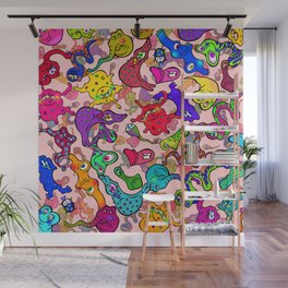 Funny Microscopic Organisms Wall Mural