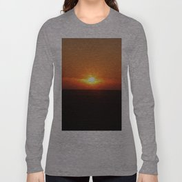 Sunset in Wiltshire England Long Sleeve T-shirt